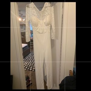 New White Lace Jumpsuit from Venus